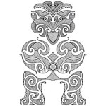 12447708-tiki-le-premier-homme-la-conception-de-style-tatouage-maori-vector-illustration